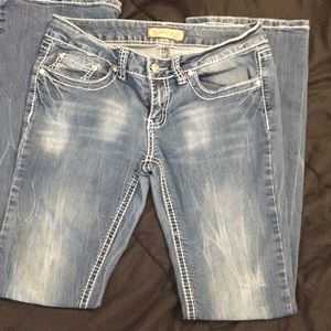 2/$14 🎉YMI distressed size 7 bootcut blue jeans